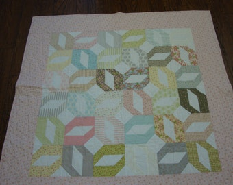 Baby Girl Quilt made with Moda Bespoke Blooms
