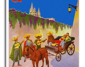 Guadalajara Print Vintage Travel Poster Retro Home Decor Art xr935