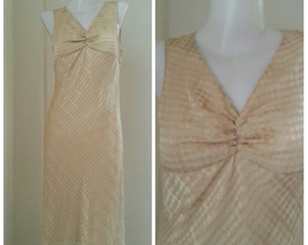 Champagne Cream Chiffon Dress Size M