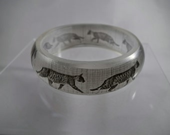 Study of Cat Locomotion resin bangle with photos by Eadweard Muybridge