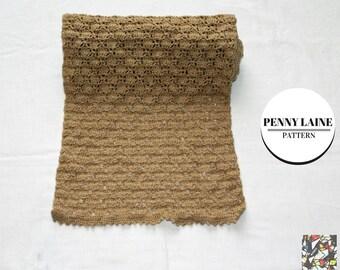 Crochet scarf pattern, Penny Laine, scarf, crochet, merinos, pattern