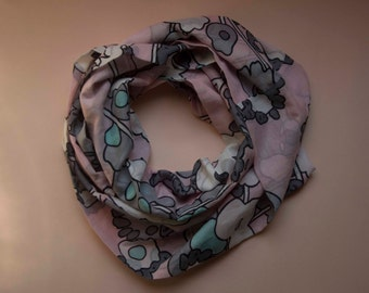 Floral scarf, snood, scarf, scarf, scarf in lightweight cotton floral pastel flower scarves
