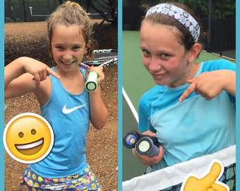 Tennis Butts for Juniors are a great tennis gift idea for tennis players and easily adheres to their tennis racket! Makes a great gift!