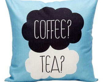 Coffee of Tea? - Pillow Cover