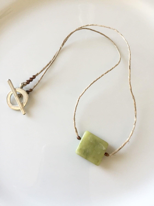 mens jade necklace mens jade necklaceon a hemp cord jade