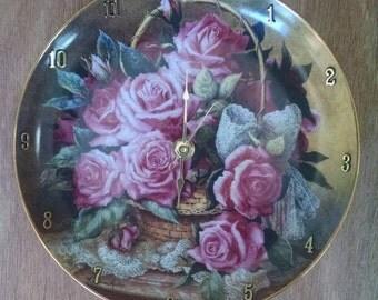 Rose De Monaco 8 Inch Clock -