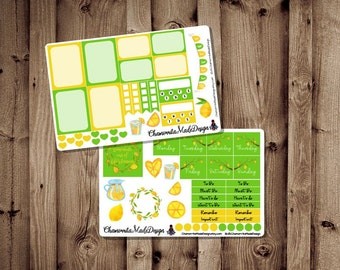 Lemonade Mini Weekly Sheet Stickers for Happy Planner | Lemon Planner Sticker Kit | Planner Sticker| Happy Planner | Erin Condren