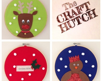Christmas Decoration Hoop - Sew Your Own Kit
