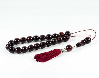 Reindeer Horns, Antlers Greek Worry Beads Komboloi|Brownish|14x14mm|22+Imam