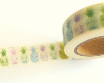 Cute Pineapples Washi Tape 15mm x 10m