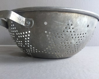 Aluminum COLANDER Strainer Six Point Star Pattern Handles