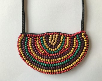 Necklace with clasp - Rainbow