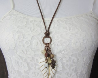 Owl Necklace, Hippie Jewelry, Eclectic Charm Necklace, Earthy Jewelry