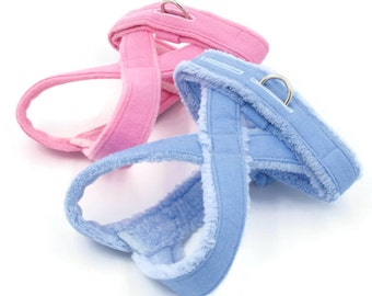 No-Choke, Fleece-Lined Dog Harness for Small Dogs, Chihuahua, Yorkie, Maltese, Poodle,