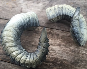 """Wearable Ram Horns  """"Marko"""" for Cosplay, Festivals, Cons & Performers rugged yet comfortable design"""
