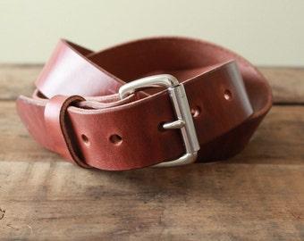 Standard Leather Belt-Brown