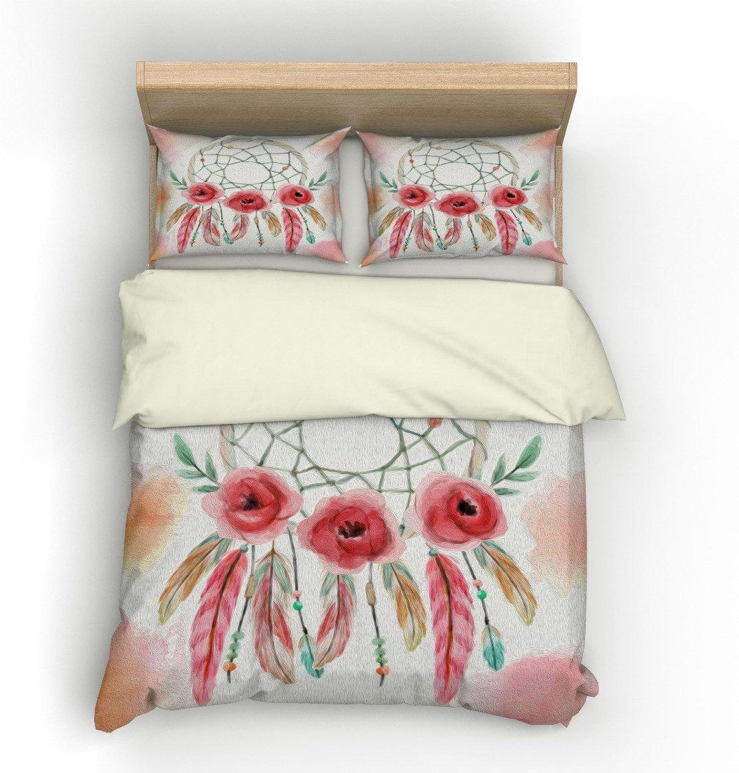 boho chic duvet cover dream catcher twin full queen king. Black Bedroom Furniture Sets. Home Design Ideas