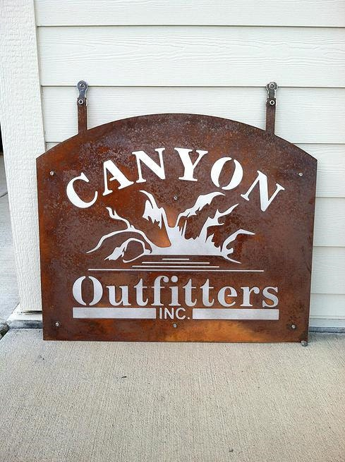 Custom Plasma Cut Metal Business Sign