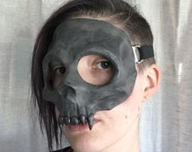 Vampire Skull Mask - Steel Grey