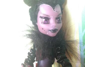 Repainted Monster High Doll Ooak