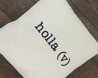 Verb Pillow Covers, Embroidered