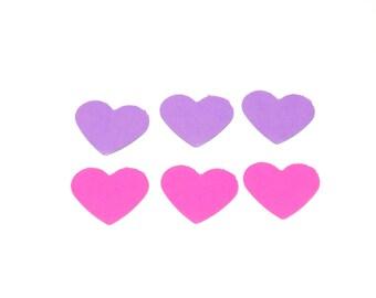 pink and purple heart confetti, heart confetti, wedding confetti, party decor, confetti