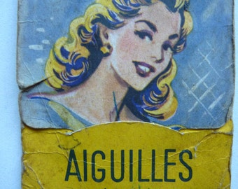 vintage french needle book