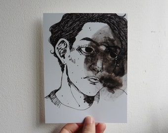 Pen and ink drawing PRINT