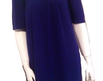 Vintage Navy Blue Mini Dress (Size UK 12, US 8)