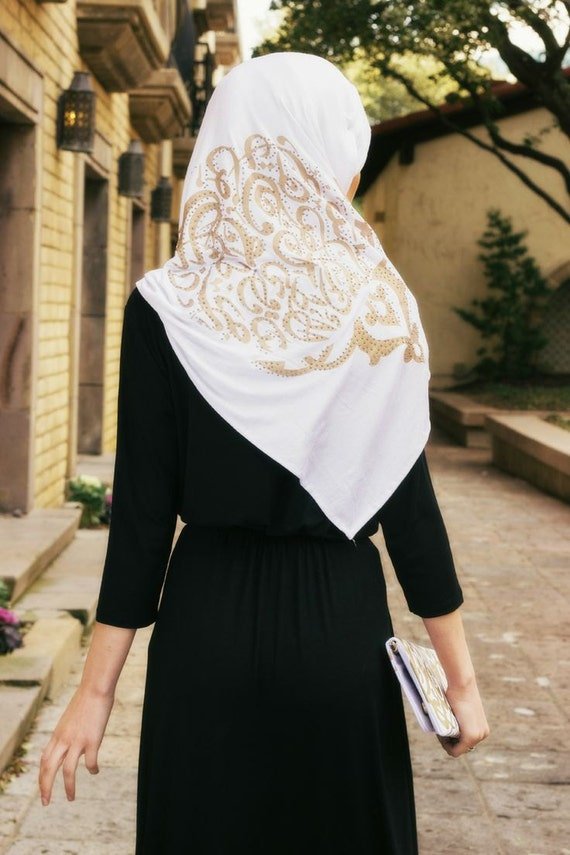 Arabic Calligraphy Scarf Hijabjersey Scarfpopular By
