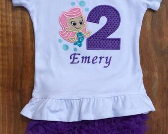 Bubble Guppy Birthday Shirt, Molly Birthday Shirt, Bubble Guppies Birthday, Bubble Guppy outfit, Birthday Outfit, Birthday Petti shorts