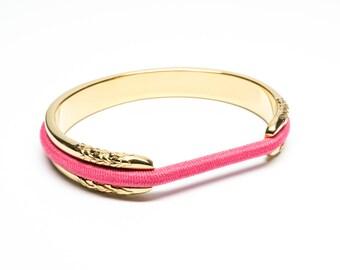 Hair Tie Bracelet, Hair Tie Bracelet Holder - Flower Design Steel Gold