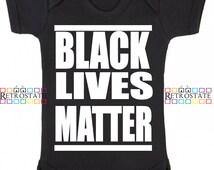 Black Lives Matter- Black Rights Baby- Graphic Typography T-shirt  Get Organized  Martin Trayvon Tony Robinson