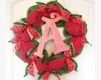 Summertime watermellon wreath
