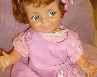 1960s IDEAL BABY GIGGLES doll -works -still giggles