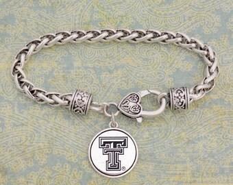 Texas Tech Red Raiders Medallion Clasp Bracelet