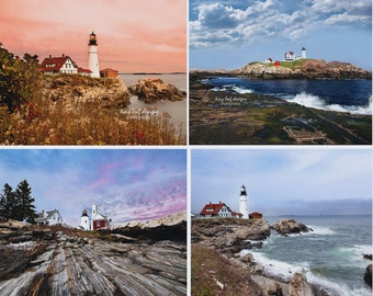 Lighthouse Notecards - set of 4!