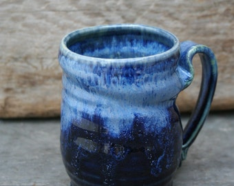 Pair of mugs! Our everyday mug in 'deepwater'. Great for coffee, tea, juice, -oh heck-  any liquid fits really well.