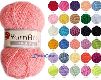 YarnArt Baby, Baby Yarns, Acrylic yarn, Soft baby yarn, Crochet yarn, Knitting yarn, Turkish yarns