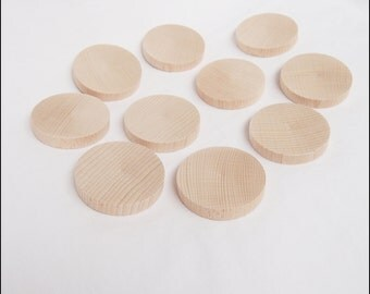"""10x Wooden Circles (Unfinished) - 2,36"""" / 0,4"""""""
