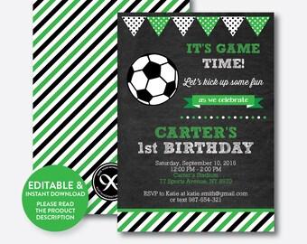 Football invitation | Etsy