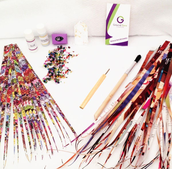 paper bead kit with paper bead roller precut paper strips