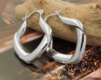 Elegant Earrings made of rhodium plated silver 925