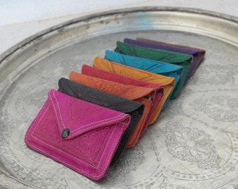 Leather wallets/purses, all colors! Leather purses! All colors!