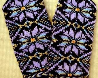 Rainbow Mittens Rainbow Gloves Hand Knitted Wool Mittens Hand Knitted Wool Gloves Patterned Latvian Mittens Winter Gloves Knitted Mittens