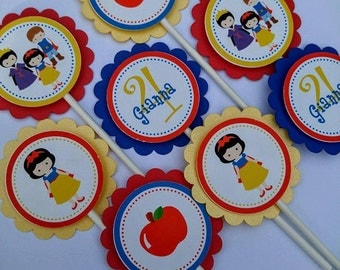 snow white cupcake topper 24 ct.