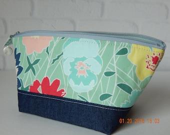 Cosmetic Bag, Bridesmaid Gift, Gift, Zipper Pouch, Makeup Bag, Toiletry Bag, Travel Bag, Small Cosmetic Bag, Ready to Ship