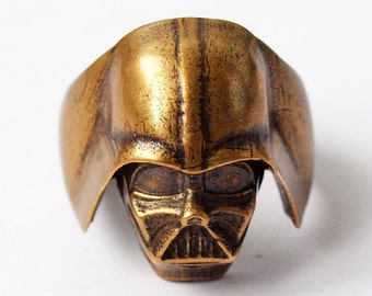Darth Vader ring, Star wars, Star wars ring, Star wars jewelry, Darth Vader mask, Darth Vader, Brass jewelry, Metal ring, Men rings