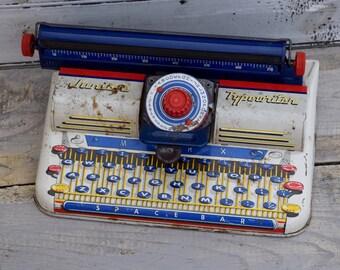 Vintage Junior Typewriter, Marx Typewriter, Kids Typewriter, Vintage Typewriter, Typewriter Display, Writer Decor, Reporter Decor