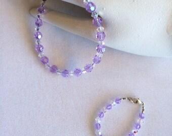 Mommy baby matching bracelet set